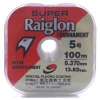 Linha monofilamento Super Raiglon - 0,37 mm - 30 Lbs - carretéis interligados c/ 100 metros cada