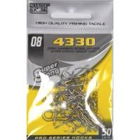 Anzol Marine Sports 4330 Nickel - Tamanho 08 - cartela c/ 50