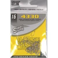 Anzol Marine Sports 4330 Nickel - Tamanho 16 - cartela c/ 50