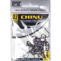 Anzol Marine Sports CHINU Circle Nickel preto - Tamanho 03 - cartela c/ 50