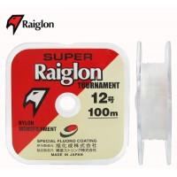 Linha monofilamento SUPER RAIGLON TOURNAMENT - 0,31 mm - 22 Lbs - carretéis interligados com 100 metros cada
