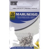 Anzol Marine Sports MARUSEIGO Nickel - Tamanho 06 - cartela c/ 50
