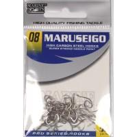 Anzol Marine Sports MARUSEIGO Nickel - Tamanho 08 - cartela c/ 50