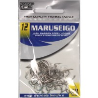 Anzol Marine Sports MARUSEIGO Nickel - Tamanho 12 - cartela c/ 50