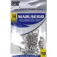 Anzol Marine Sports MARUSEIGO Nickel - Tamanho 14 - cartela c/ 50