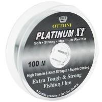 Linha monofilamento Ottoni PLATINUM XT - 0,40 mm - 43 Lbs - carretéis interligados com 100 metros cada