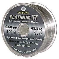Linha monofilamento Ottoni PLATINUM XT - 0,60 mm - 96 Lbs - carretéis interligados com 100 metros cada
