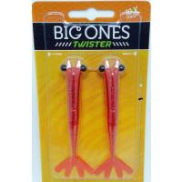 Camarão Artificial Big Ones Twister cor 03 (vermelho) articulado - 12 cm