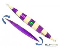 Isca artificial metal Jig Sea Fishing modelo Poly 100g cor Roxo - Glow