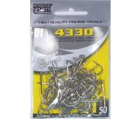 Anzol Marine Sports 4330 Nickel - Tamanho 01 - cartela c/ 50