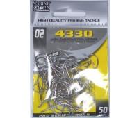 Anzol Marine Sports 4330 Nickel - Tamanho 02 - cartela c/ 50