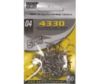 Anzol Marine Sports 4330 Nickel - Tamanho 04 - cartela c/ 50