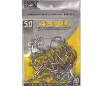 Anzol Marine Sports 4330 Nickel - Tamanho 5/0 - cartela c/ 20