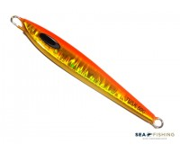 Isca artificial metal Jig Sea Fishing modelo Tusk 60g cor Laranja