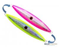 Isca artificial metal Jig Sea Fishing modelo Amabis 460g cor Rosa com Limão