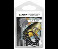 Anzol Crown Baitholder Black Tamanho 01 - Cartela c/ 10UN