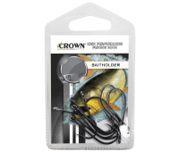 Anzol Crown Baitholder Black Tamanho 1/0 - Cartela c/ 10UN
