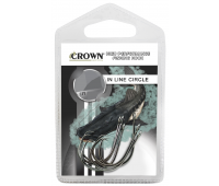 Anzol Crown In Line Circle Black Tamanho 1/0 - Cartela c/ 6UN