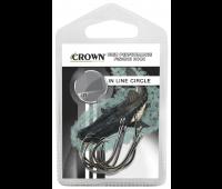 Anzol Crown In Line Circle Black Tamanho 2/0 - Cartela c/ 6UN