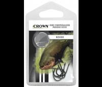 Anzol Crown Koiso Black Tamanho 24 - Cartela c/ 5UN