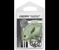 Anzol Crown Octopus Black Tamanho 1/0 - Cartela c/ 10UN