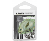 Anzol Crown Octopus Black Tamanho 7/0 - Cartela c/ 10UN