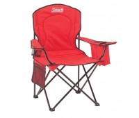 Cadeira Coleman Dobrável com Cooler Vermelho