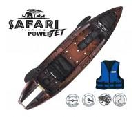 Caiaque Brudden SAFARI Power Jet Cor Brown + Colete