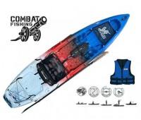 Caiaque Brudden Combat Fishing cor USA + Colete