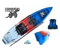 Combo: Caiaque Brudden Combat Fishing cor USA + Cooler 30 Lts + Colete