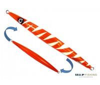 Isca artificial metal Jig Sea Fishing modelo Dalli 300g cor Laranja - Glow