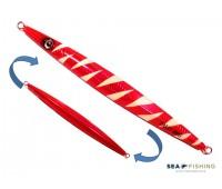 Isca artificial metal Jig Sea Fishing modelo Dalli 300g cor Rosa - Glow