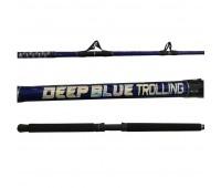 "Vara Carretilha Rapala Deep Blue Trolling 6'0"" - 1.80 m - 60 a 120lb Ponteira de Roldana"