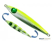 Isca artificial metal Jig Sea Fishing modelo Dusky 40g cor Limão - Glow