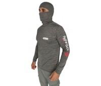 Camiseta de Pesca FishingCo Ninja - Cor Cinza Mesclado - Tamanho M (1089)