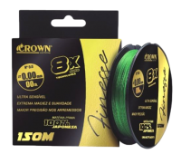 Linha Multifilamento Crown Finesse 8X - 0,14mm - 17lbs - 150m