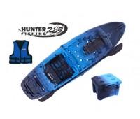 Combo: Caiaque Brudden Hunter Fishing 285 cor Safira + Cooler + Colete