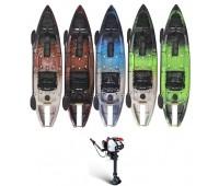 Combo: Caiaque Brudden SAFARI Power Jet Qualquer Cor + Motor Jet Turbo 3.0 Hp Com Embreagem + Kit acelerador remoto