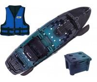Combo: Caiaque Brudden Hunter Fishing 285 cor Savana + Cooler + Colete