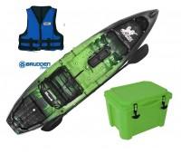 Combo: Caiaque Brudden Combat Fishing cor Lima + Cooler 30 Lts + Colete