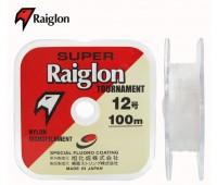 Linha monofilamento SUPER RAIGLON TOURNAMENT - 0,33 mm - 25 Lbs - carretéis interligados com 100 metros cada