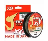 Linha Multifilamento Daiwa J-Braid X8 270m - 80lbs - 0,43mm Dark Green (verde escuro)