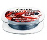 Linha multifilamento Crown Fiber Flex 8X 0,28 mm - 50 lbs - 100 m - Cinza