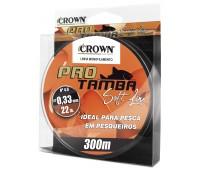 Linha monofilamento Crown Pró Tamba Soft 0,37 mm - 27 lbs - 300 m - Laranja