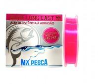 Linha Monofilamento Trabucco Elite Long Cast 0,25 - 8,44kg - 300m - Rosa