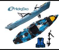 Caiaque Hidro 2 MAKO 110 Cor Camuflado Azul - Pró Com Pedal + Colete