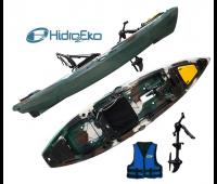 Caiaque Hidro 2 MAKO 110 Cor Camuflado Exercito - Pró Com Pedal VERSAO 2021 + Colete