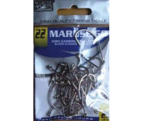Anzol Marine Sports MARUSEIGO Nickel - Tamanho 22 - cartela c/ 25