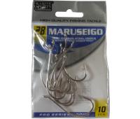 Anzol Marine Sports MARUSEIGO Nickel - Tamanho 28 - cartela c/ 10