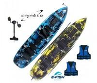 Caiaque Caiaker Mero Duplo + 01 Smart Pedal + 2 Coletes  - Pronta Entrega!